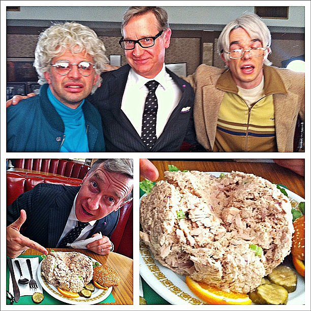 Nick Kroll showed off guest star Paul Feig while filming Kroll Show. Source: Instagram user nickkroll