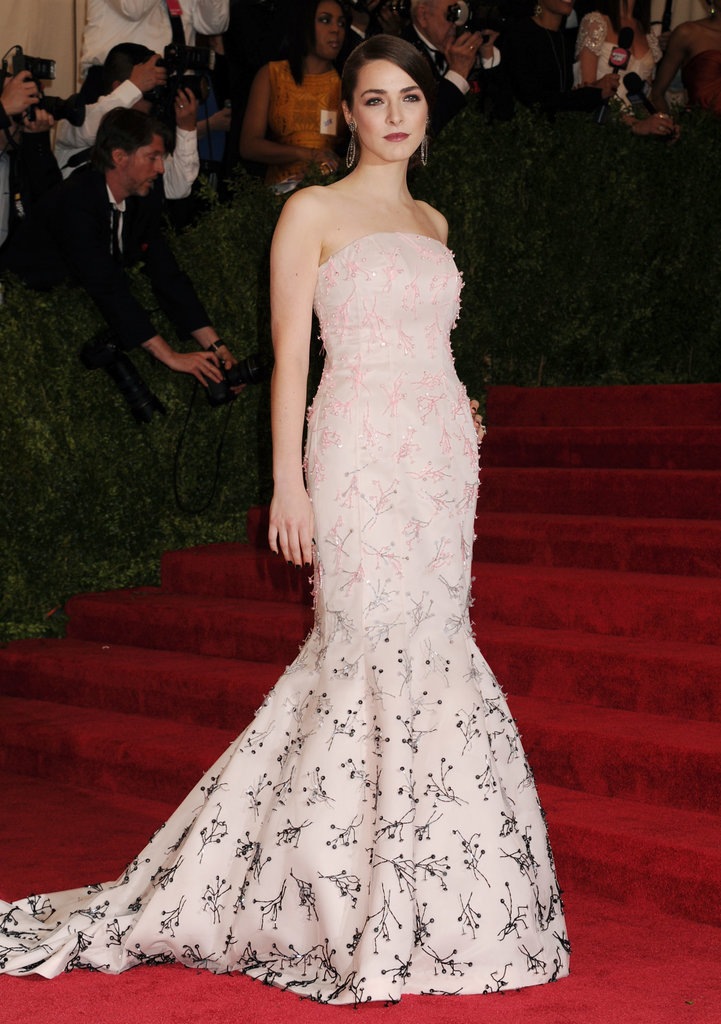 Bee Shaffer's strapless embellished Christian Dior gown lent timeless glamour to the 2013 Met Gala.