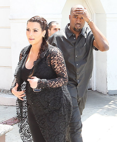 Kanye West hurt his head while out in LA with Kim Kardashian.