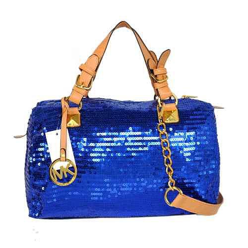 MK Michael Kors Gleamy Design Blue Handbag