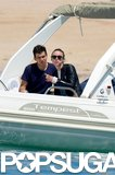 Keira Knightley and James Righton chatted during their boat ride.