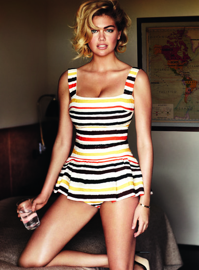 Kate Upton posed in a swimsuit for her June 2013 Vogue spread.