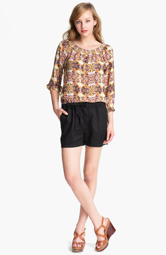 Caslon Three Quarter Sleeve Peasant Blouse