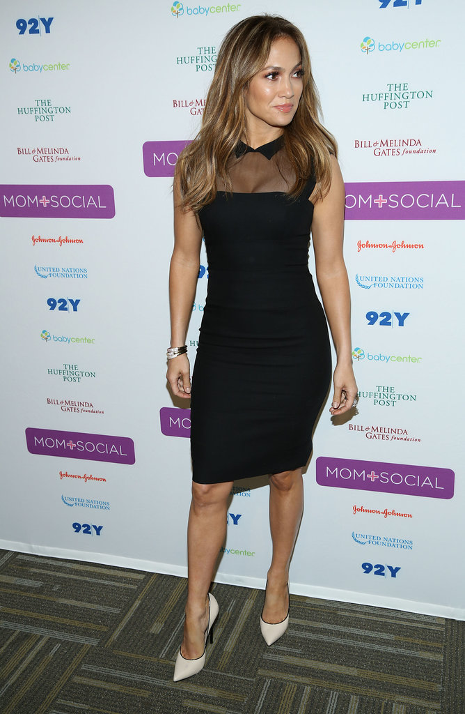 Jennifer Lopez wore a L'Wren Scott dress for an appearance at the United Nations Foundation Mom + Social event in NYC.