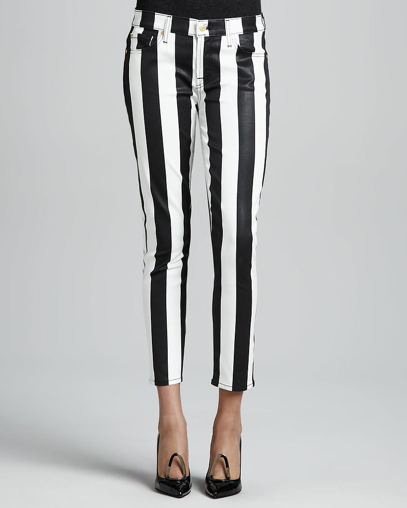 Mark this year as the one when black and white stripes moved out of the jailhouse and onto stylish stems instead. Swap in 7 For All Mankind's skinnies ($198) to give regular denim a break.