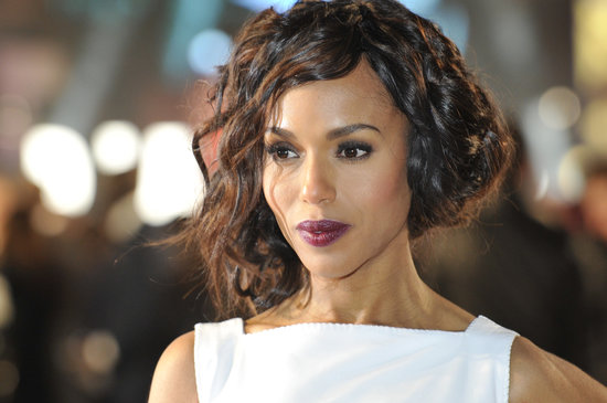 A retro-looking faux bob at the Django: Unchained UK premiere was made even more dramatic with an aubergine lipstick.