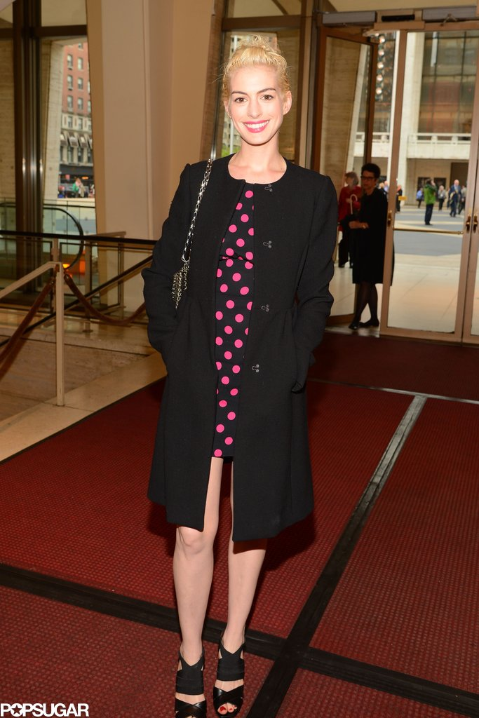 Anne Hathaway had her third night out in four days.