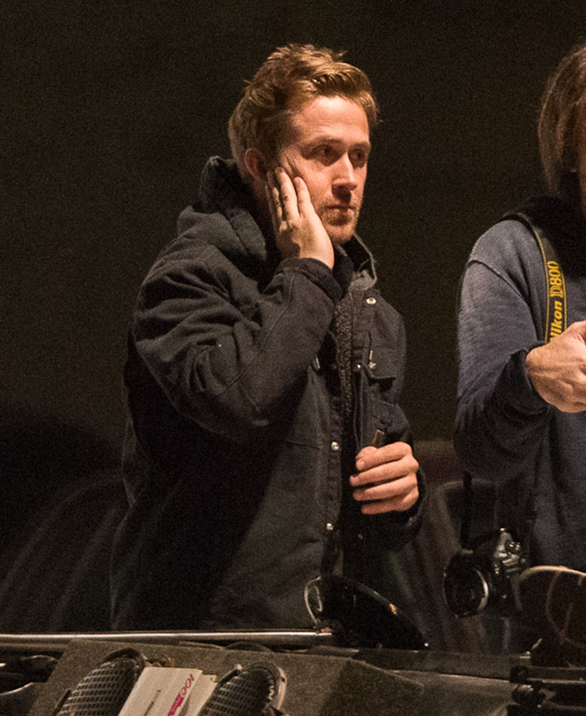 Ryan Gosling worked through the night in Detroit.
