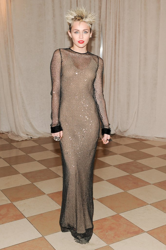 Miley Cyrus wore Marc Jacobs to the 2013 Met Gala.