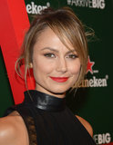 Stacy Keibler's undone hair and red lips