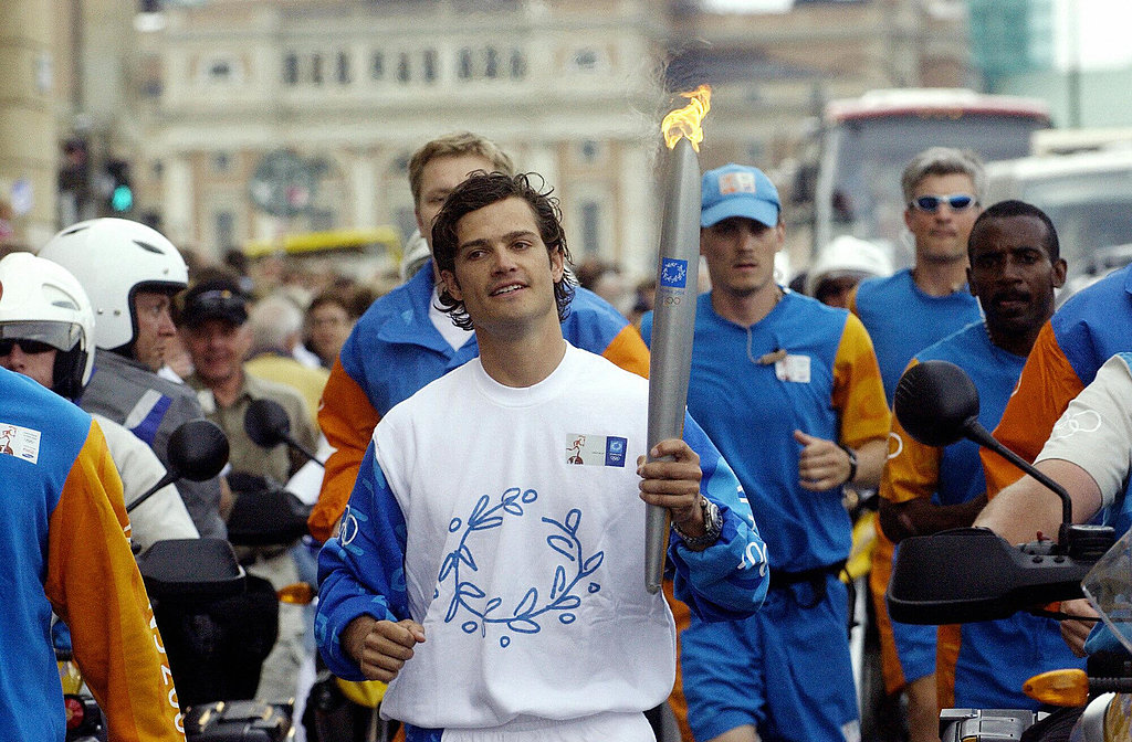 He looks good while he works out, as we saw during day 27 of the Athens 2004 Olympic torch relay in Stockholm.