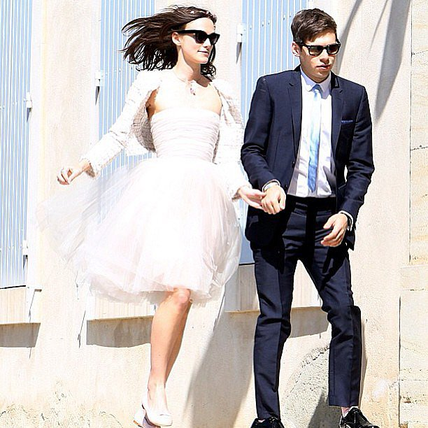 "Phoebe Tonkin shared this photo of Keira Knightley's wedding to James Righton, along with the caption, ""Future wedding inspiration"". Cute, right? Fun fact: the dress is a Rodarte one that Keira's had since 2008."