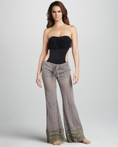 L Space Swimwear by Monica Wise Coachella Crochet Beach Pants
