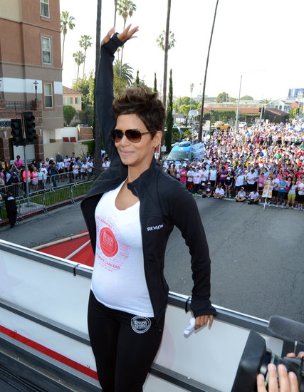 Halle Berry waved at the crowd.