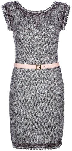 Fendi sleeveless belted sweater dress