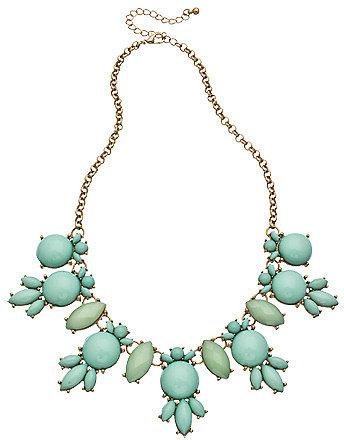 Blu Bijoux Gold and Aqua Bubble Necklace