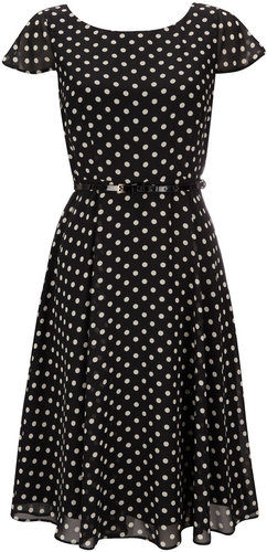Petite Polka Dot Print Dress