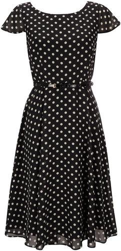 Petite Polka Dot Print Dress