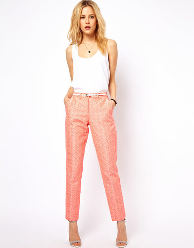 ASOS Pants in Geo Jacquard