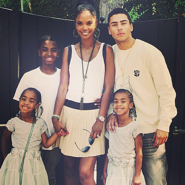 Diddy spent Mother's Day with his children and ex-girlfriend Kim Porter. Source: Instagram user iamdiddy