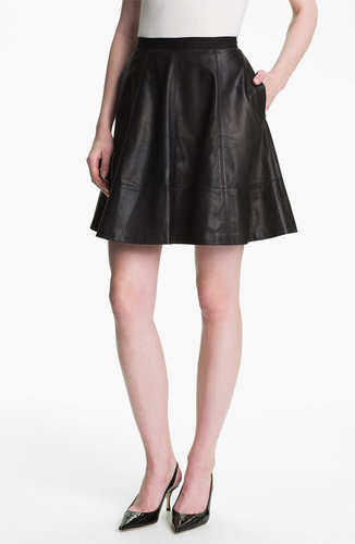 Miss Wu Leather Circle Skirt (Nordstrom Exclusive)