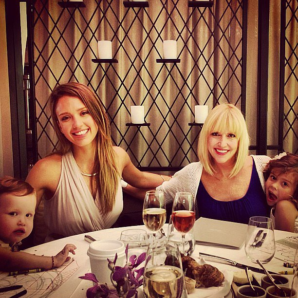 There were three generations celebrating Mother's Day around the Alba-Warren table.  Source: Instagram user cash_warren