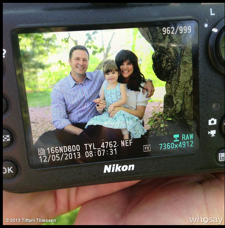 Tiffani Thiessen took the day to sit for a photo shoot with her family. Source: WhoSay user TiffaniThiessen