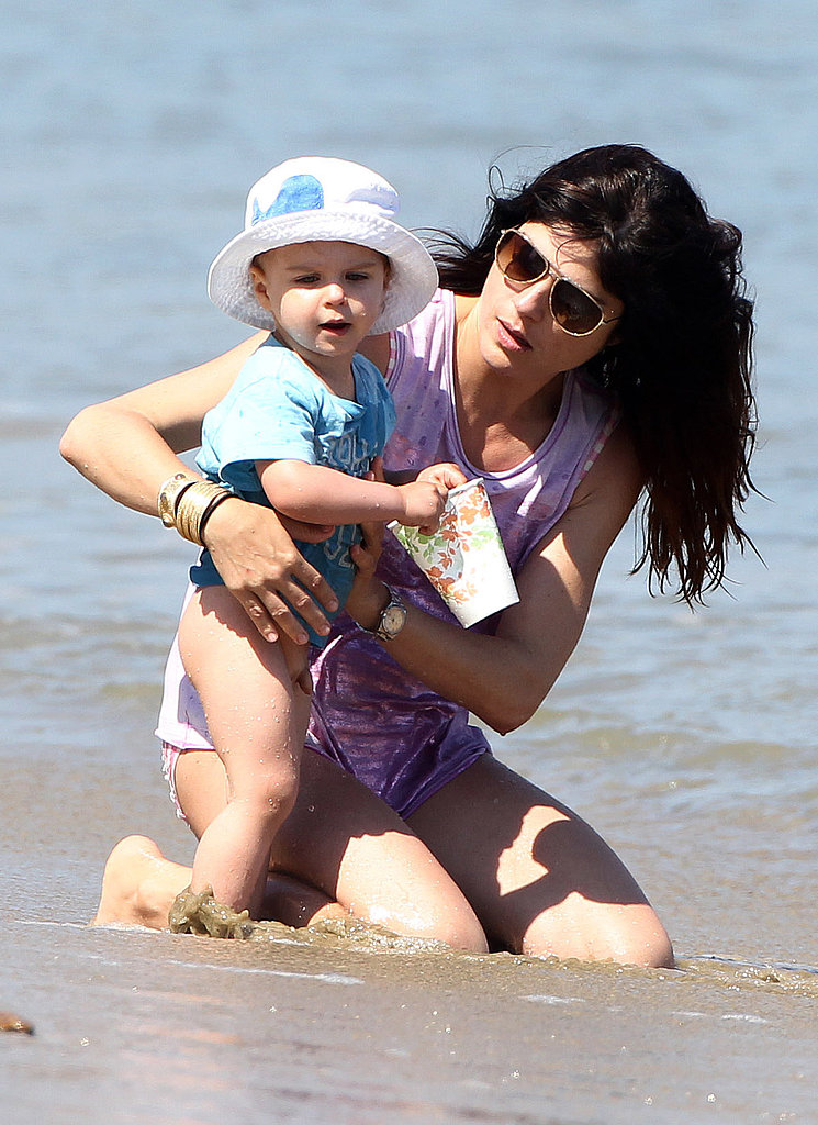 Selma Blair splashed around with her son, Arthur Bleick, in LA.