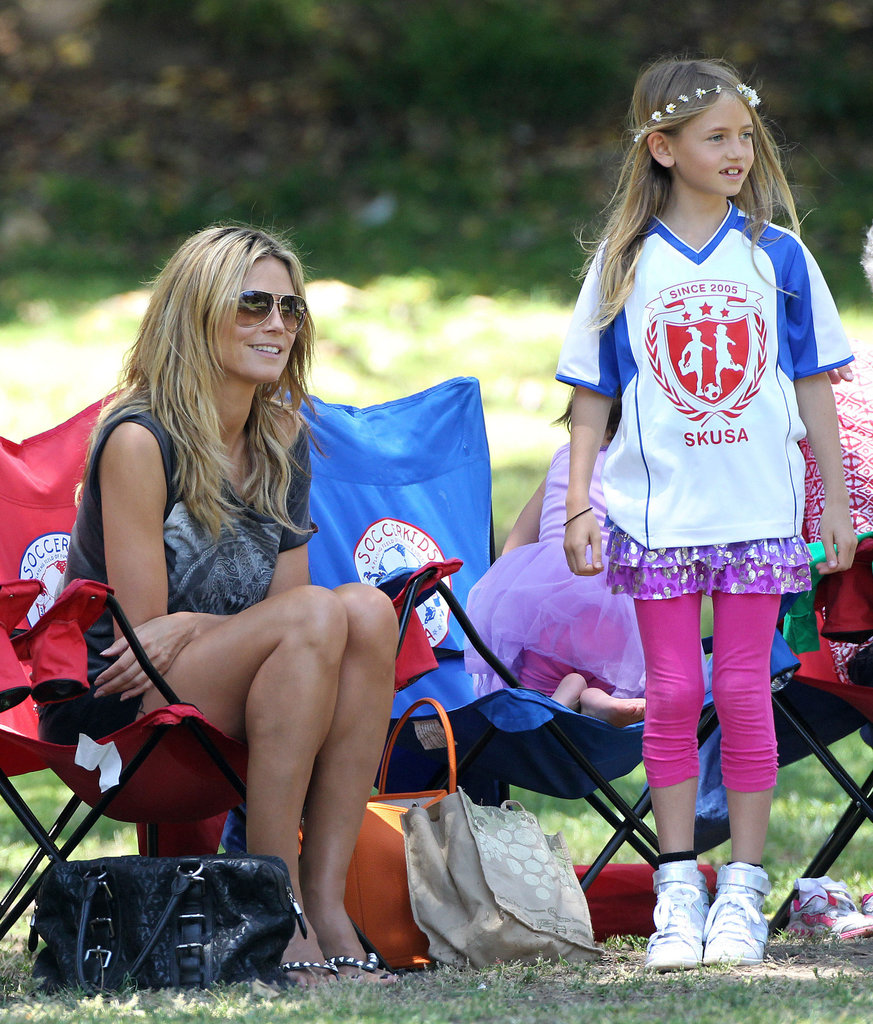 Heidi Klum spent her Saturday watching kids' soccer games in LA.
