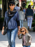 Vida McConaughey took her mom, Camila Alves, jewelry shopping on Sunday in NYC.