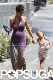 Pregnant Halle Berry and her daughter, Nahla Aubry, went to Mother's Day lunch in LA and were joined by Olivier Martinez.
