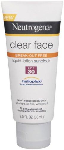 Neutrogena Clear Face Liquid-Lotion Sunblock