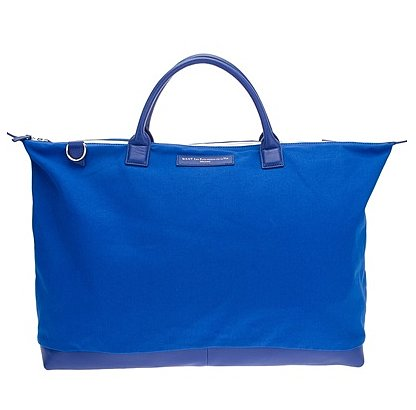 The bright blue hue on this Want Les Essentiels tote ($428) is the perfect way to add electric edge to your weekend getaway.