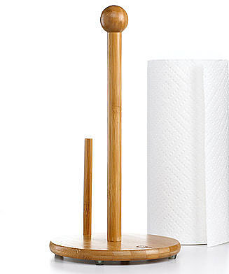 Martha Stewart Collection Paper Towel Holder, Bamboo