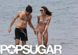 Keira Knightley wore a bikini while James Righton went shirtless.