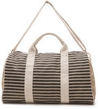 Anyone who's obsessed with stripes must get on this Deux Lux striped weekender bag ($145) — the neutral color story will make it work on any trip and with any outfit.