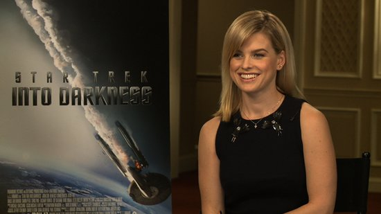 "Alice Eve on the Star Trek Into Darkness Secrecy: ""I Told My Mum!"""