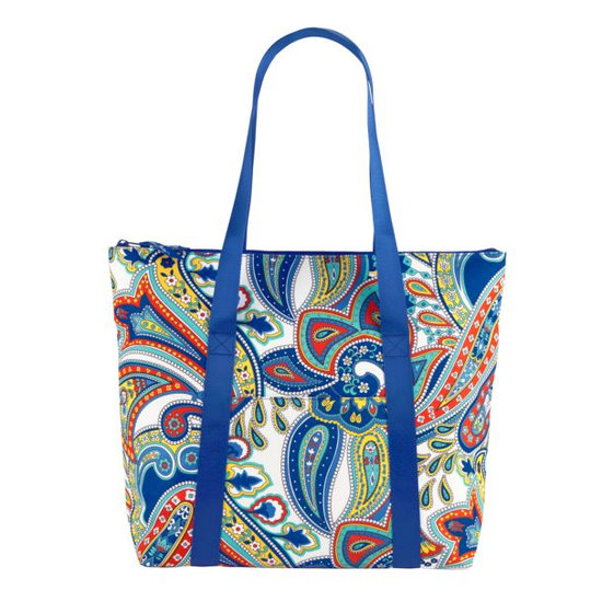 This primary-colored paisley Vera Bradley Cooler Tote ($60) may not have a ton of pockets, but it can keep food and drinks cold for up to three hours. If you love the print bag, then consider keeping the rest of your essentials in a small cosmetic case that can fit inside. This way you'll know where everything is.