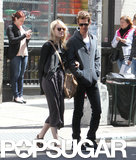 Emma Stone and Andrew Garfield were arm in arm in NYC on Tuesday.