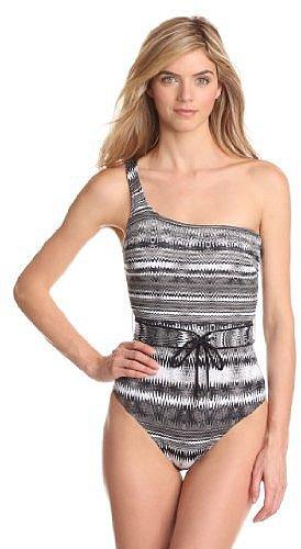 Calvin Klein Women's Wave One Shoulder 1 Piece
