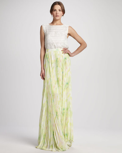 Alice + Olivia Shannon Floral Maxi Skirt