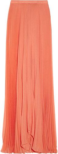Alice + Olivia Shannon pleated chiffon maxi skirt