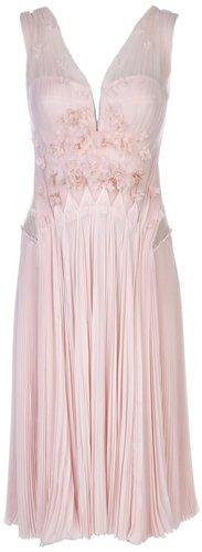J. Mendel Pleated tulle dress