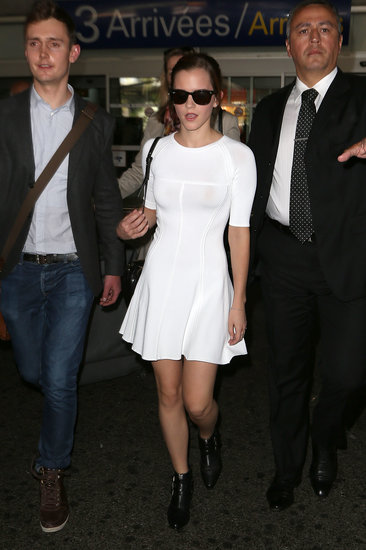 Emma Watson arrived in Nice for the Cannes Film Festival.