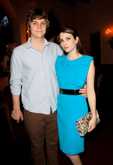 Evan Peters and Emma Roberts attended the event hosted by Lisa Love and John Demsey.