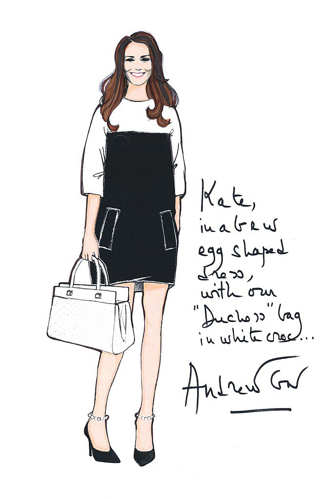Andrew Gn for Kate Middleton Source: courtesy of designer via WWD
