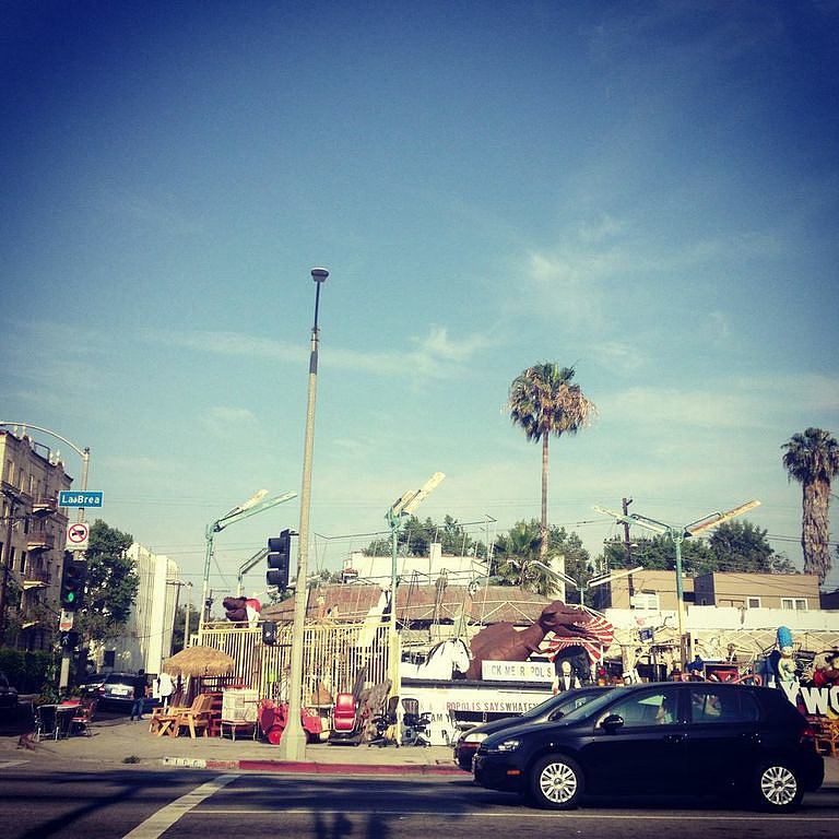 Sunny skies, palm trees, and (moving) traffic kicked off our La Brea adventure.