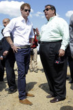 Prince Harry chatted with Gov. Chris Christie on Tuesday while touring damaged areas of the Jersey Shore.