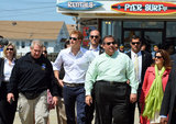 Prince Harry walked with Gov. Chris Christie and local New Jersey officials on Tuesday.