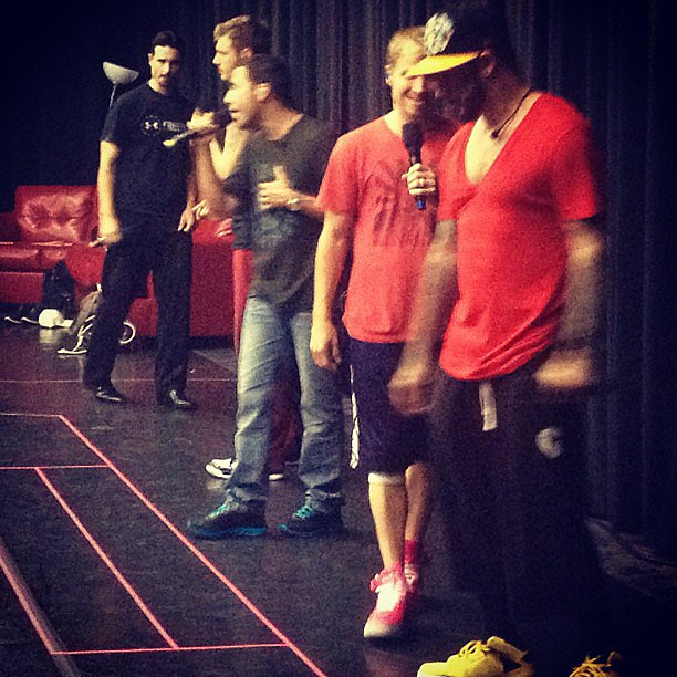 The Backstreet Boys took to the stage for some rehearsal time. Source: Instagram user backstreetboys